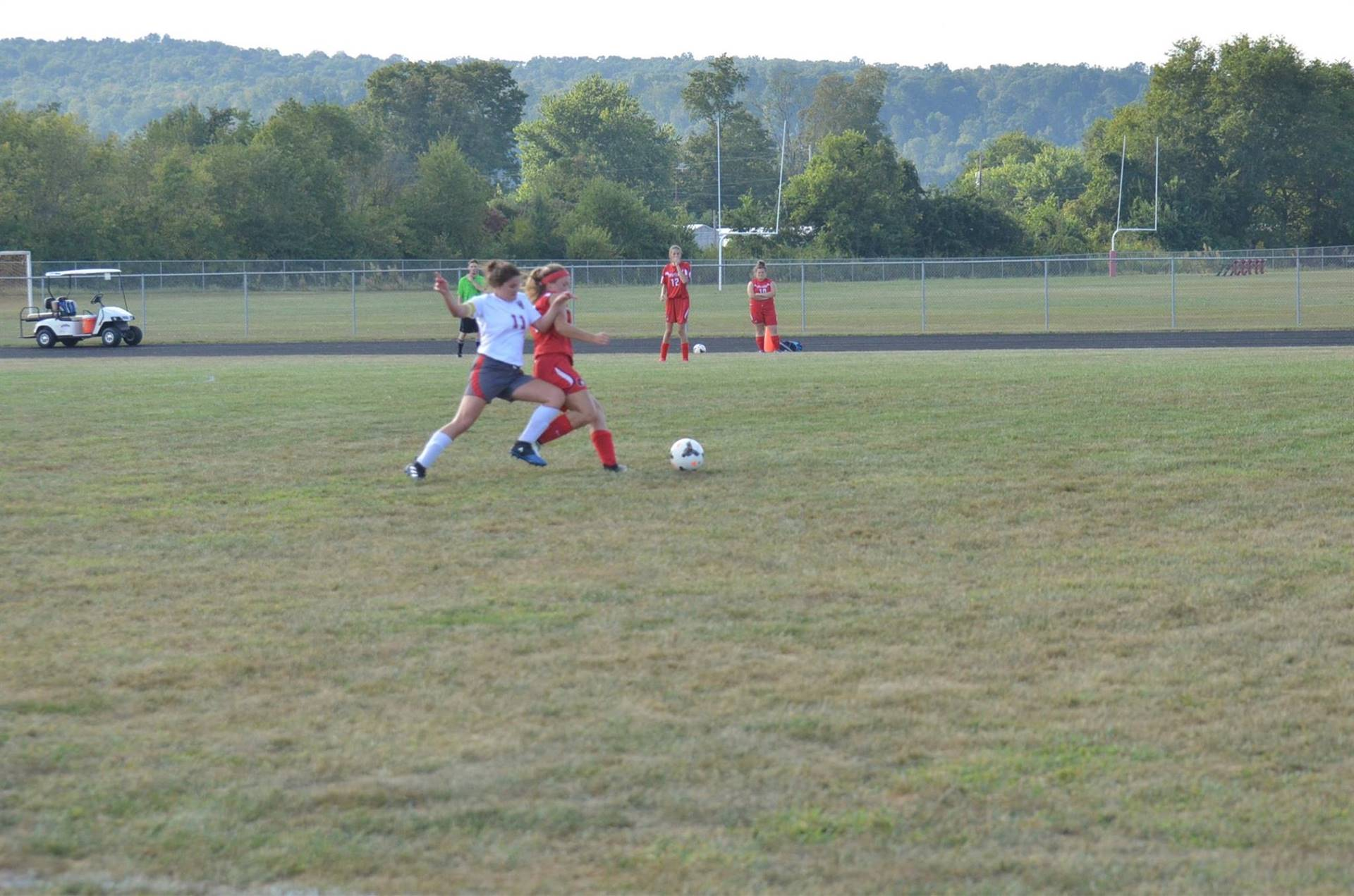 Kalesie Henderson fighting for the ball.