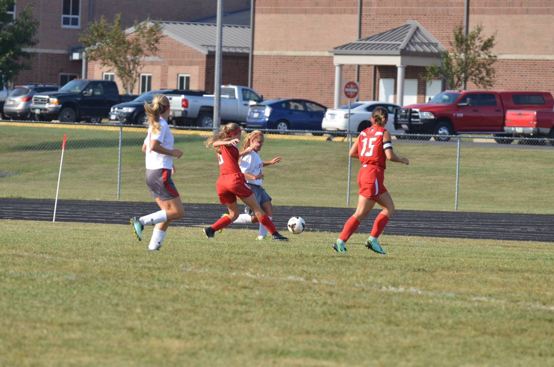 Breanna Eick going in for a goal kick.