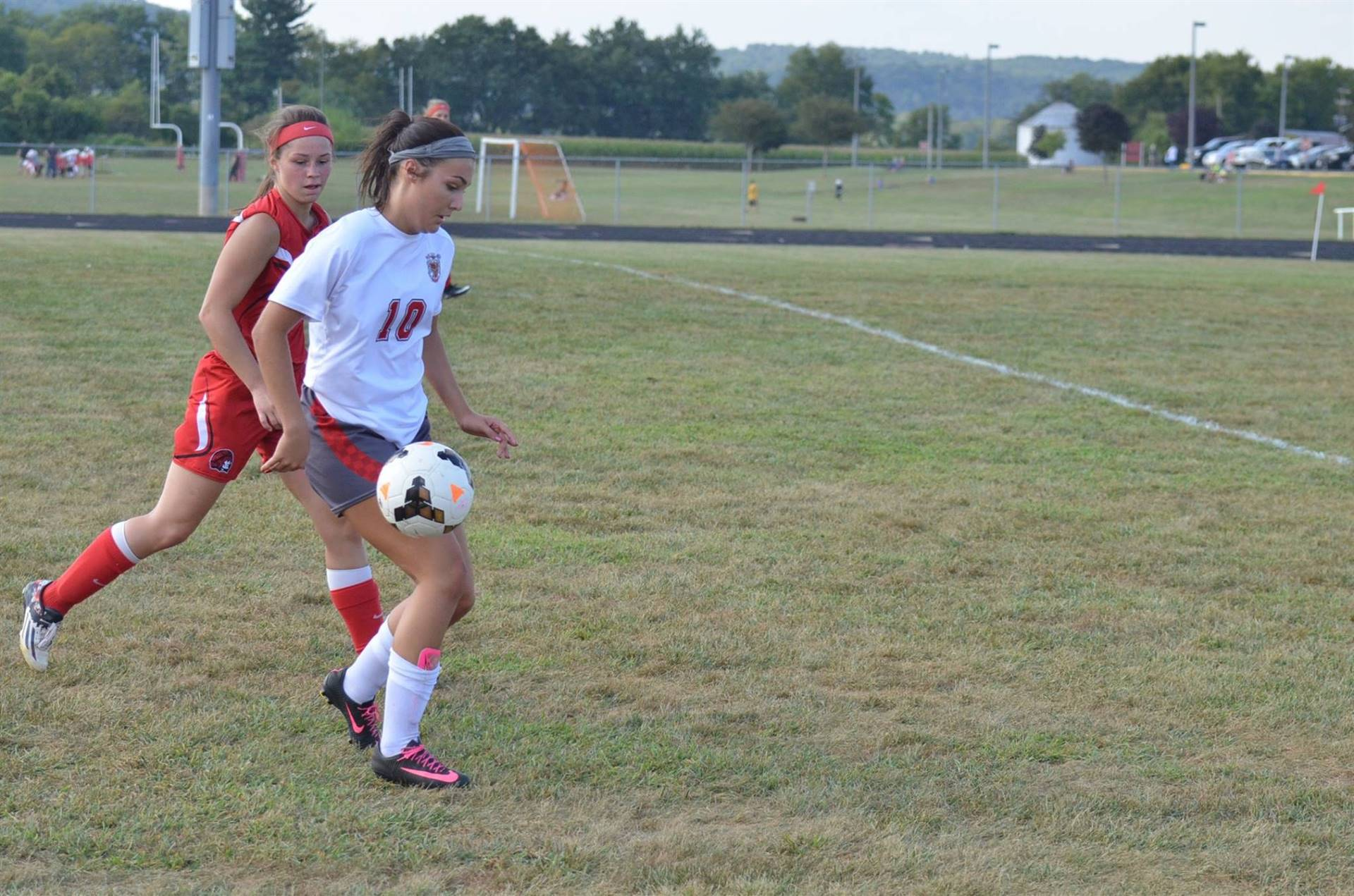 Ally Crothers keeping the ball from getting stolen.